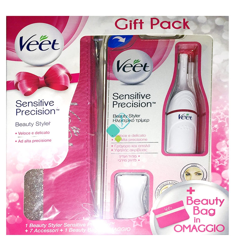 Veet Linea Depilazione Viso e Bikini Cofanetto con Sensitive Precision   Beauty
