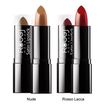 Rougj Linea Make-up Satin Lipstick Rossetto Classico Colore Nude